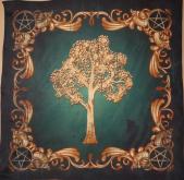 Скатерть Платок Викканское древо Сбор урожая