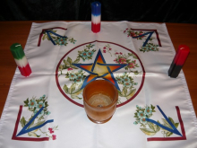 Алтарная Скатерть Цветущая Пентаграмма