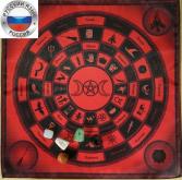 Комплект Скатерть-Алтарь Круги Ведьмы + 5 магических камней