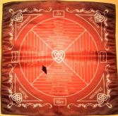 Комплект Скатерть для Любовной магии и Отношений + Маятник Звездный авантюрин