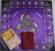 Большой рунический комплект Береза фиолетовый