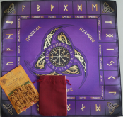 Большой рунический комплект Бамбук фиолетовый