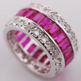 Кольца Драгоценный круг Розовый сапфир
