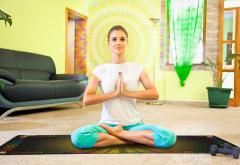 Скатерть для медитаций и йоги Аум-желтый Большая